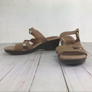 92682d9ec8a7 Nude black Naturalizer Tulla Velcro sandal heel 7